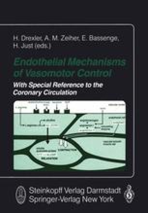 Endothelial Mechanisms of Vasomotor Control