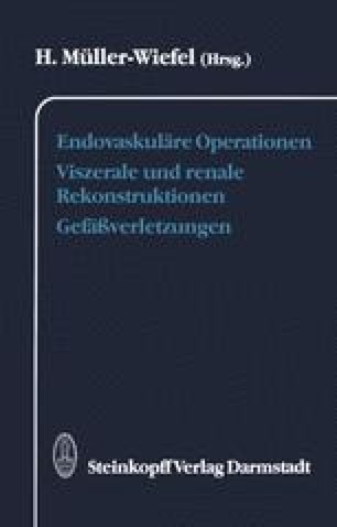 Endovaskuläre Operationen Viszerale und renale Rekonstruktionen Gefäßverletzungen