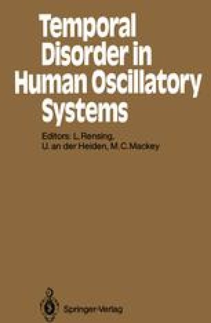 Temporal Disorder in Human Oscillatory Systems