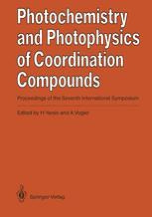 Photochemistry and Photophysics of Coordination Compounds