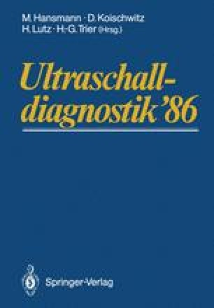 Ultraschalldiagnostik '86