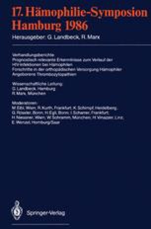 17. Hämophilie-Symposion