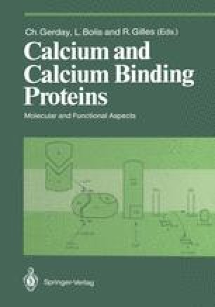 Calcium and Calcium Binding Proteins