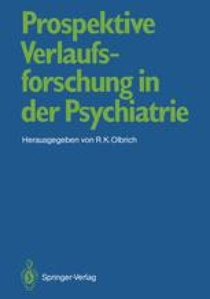 Prospektive Verlaufsforschung in der Psychiatrie