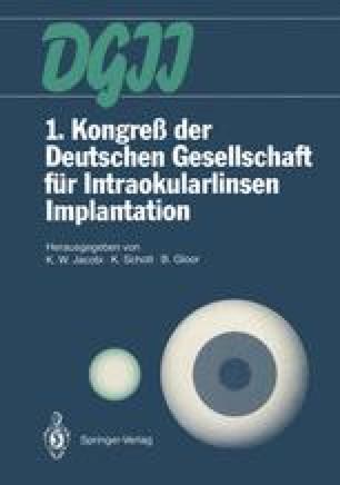1. Kongreß der Deutschen Gesellschaft für Intraokularlinsen Implantation