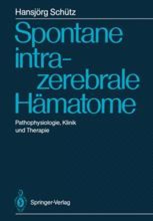 Spontane intrazerebrale Hämatome
