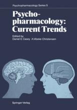 Psychopharmacology: Current Trends