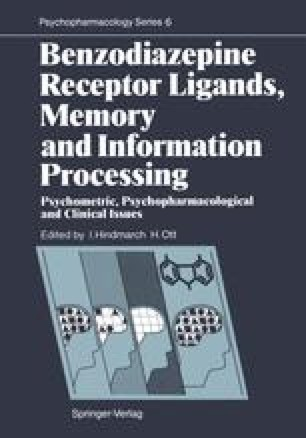 Benzodiazepine Receptor Ligands, Memory and Information Processing