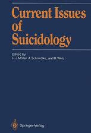 Current Issues of Suicidology