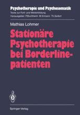 Stationäre Psychotherapie bei Borderlinepatienten