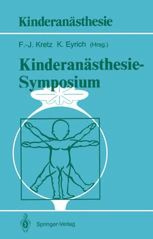 Kinderanästhesie — Symposium