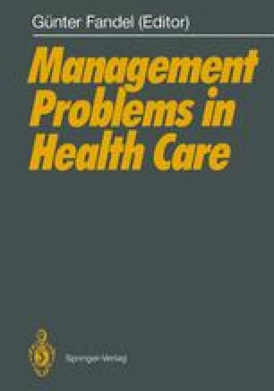 Management Problems in Health Care