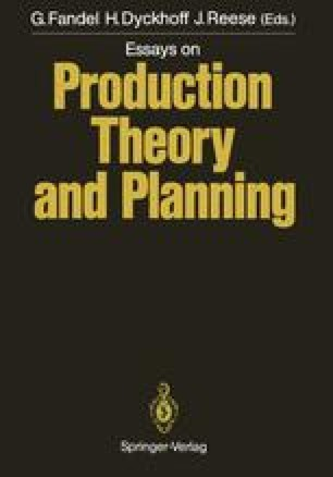 Essays on Production Theory and Planning