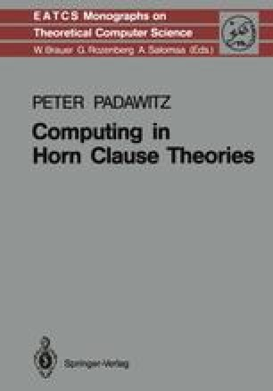 Computing in Horn Clause Theories