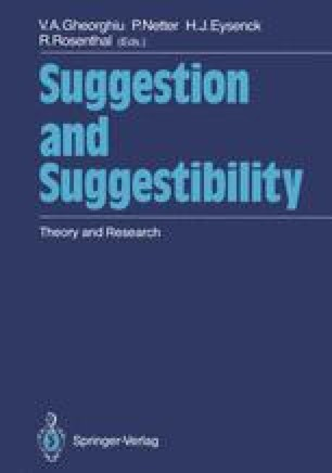 Suggestion and Suggestibility