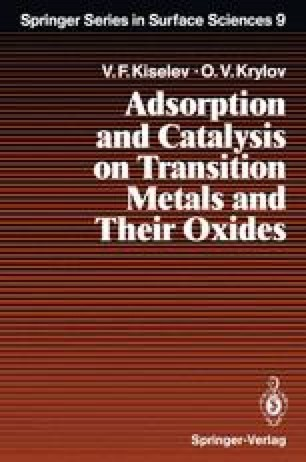 Adsorption and Catalysis on Transition Metals and Their Oxides