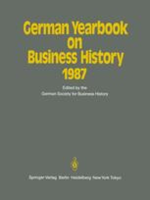 German Yearbook on Business History 1987