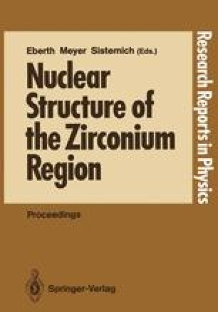 Nuclear Structure of the Zirconium Region