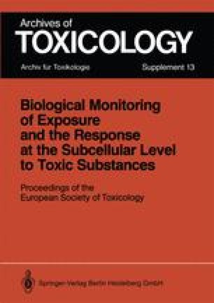 Biological Monitoring of Exposure and the Response at the Subcellular Level to Toxic Substances