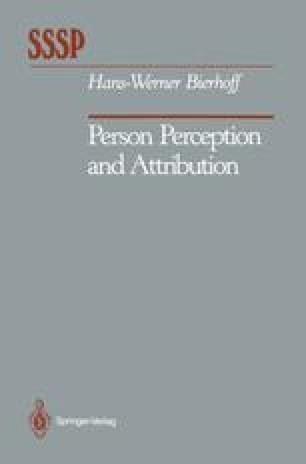 Person Perception and Attribution