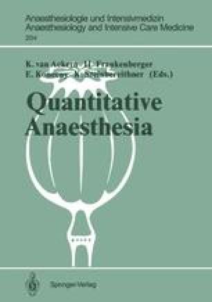 Quantitative Anaesthesia