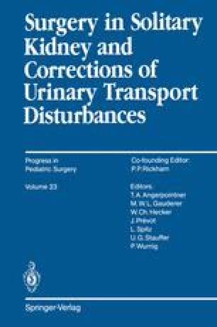 Surgery in Solitary Kidney and Corrections of Urinary Transport Disturbances