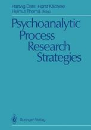 Psychoanalytic Process Research Strategies