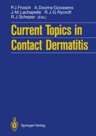Current Topics in Contact Dermatitis