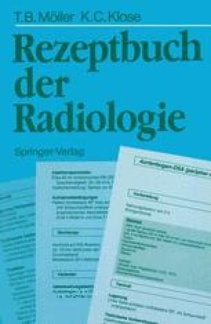 Rezeptbuch der Radiologie