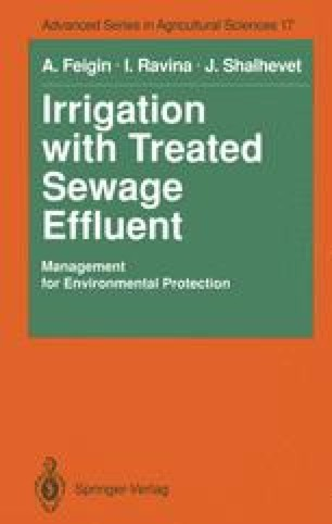 Irrigation with Treated Sewage Effluent