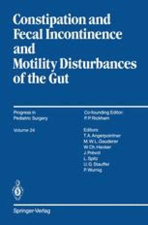 Constipation and Fecal Incontinence and Motility Disturbances of the Gut