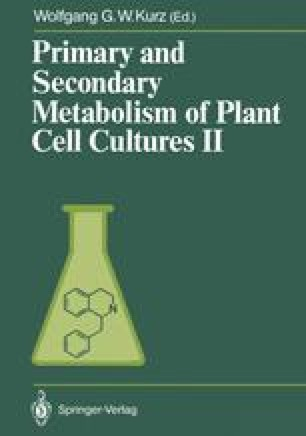 Primary and Secondary Metabolism of Plant Cell Cultures II