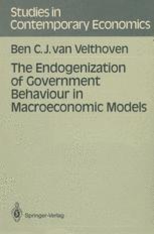 The Endogenization of Government Behaviour in Macroeconomic Models
