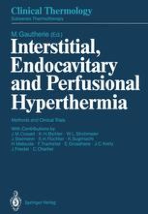 Interstitial, Endocavitary and Perfusional Hyperthermia