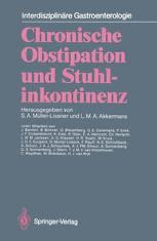 Chronische Obstipation und Stuhlinkontinenz
