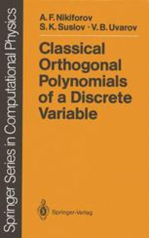 Classical Orthogonal Polynomials of a Discrete Variable