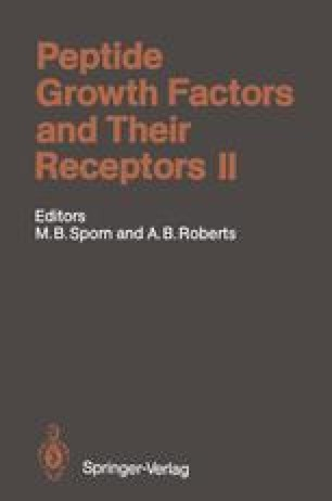 Peptide Growth Factors and Their Receptors II