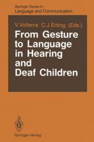 From Gesture to Language in Hearing and Deaf Children