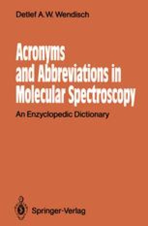 Acronyms and Abbreviations in Molecular Spectroscopy