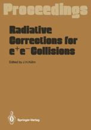 Radiative Corrections for e+e- Collisions