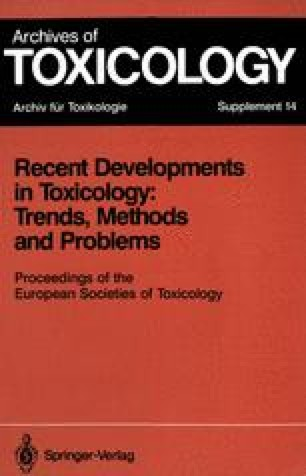 Recent Developments in Toxicology: Trends, Methods and Problems
