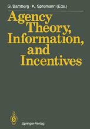 Agency Theory, Information, and Incentives