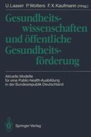 Gesundheitswissenschaften und öffentliche Gesundheitsförderung
