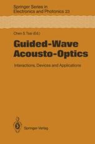 Guided-Wave Acousto-Optics