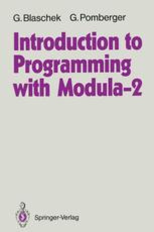 Introduction to Programming with Modula-2