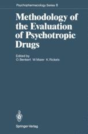 Methodology of the Evaluation of Psychotropic Drugs