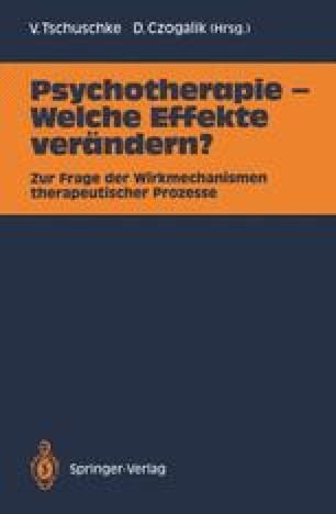 Psychotherapie — Welche Effekte verändern?