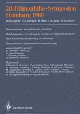20. Hämophilie-Symposion Hamburg 1989