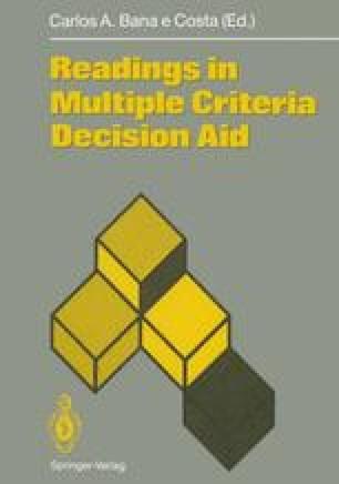 Readings in Multiple Criteria Decision Aid
