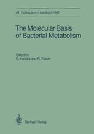 The Molecular Basis of Bacterial Metabolism